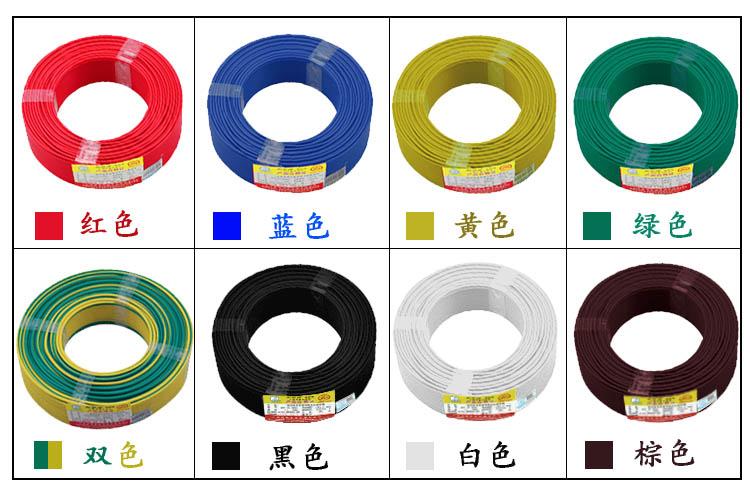 电线颜色分布