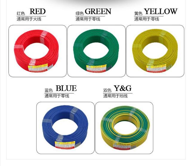 起帆辐照家装线颜色分配
